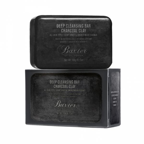 Baxter of California Deep Cleansing Bar Charcoal Clay Seife 198g