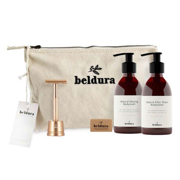 Beldura Shaving-Set 5-teilig Rose Gold Set