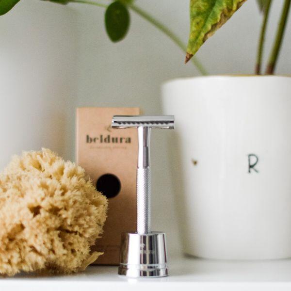 Beldura Shaving-Set 5-teilig Silber