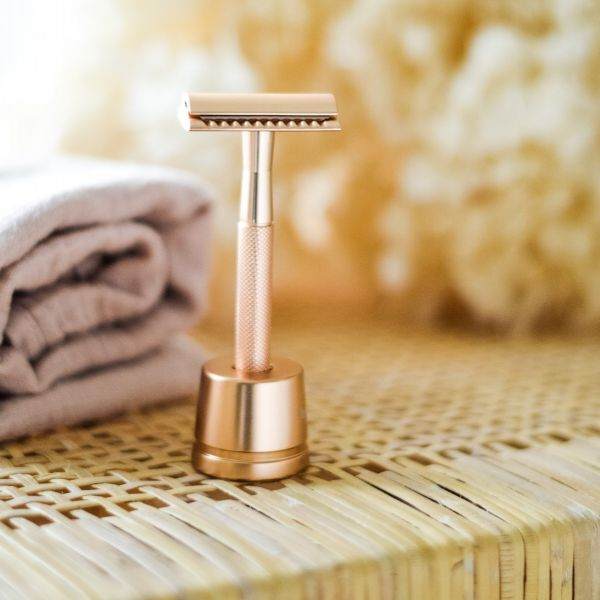 Beldura Shaving-Set 5-teilig Rose Gold