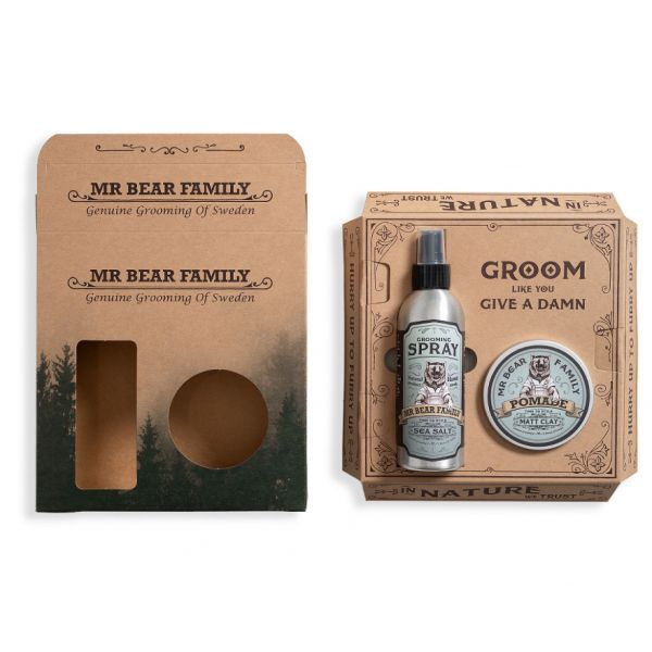 Mr. Bear Family Kit Spray & Pomade Springwood