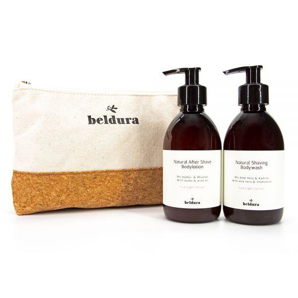 Beldura Natural Shaving Bodywash & After Shave Bodylotion Set